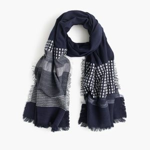 <j.crew> mixed stripe scarf